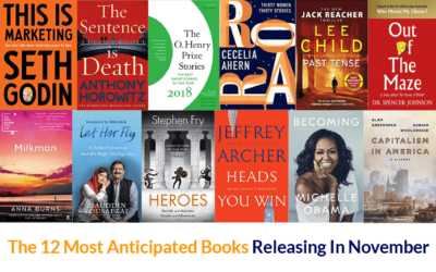 The 12 Most Anticipated Books Releasing In November